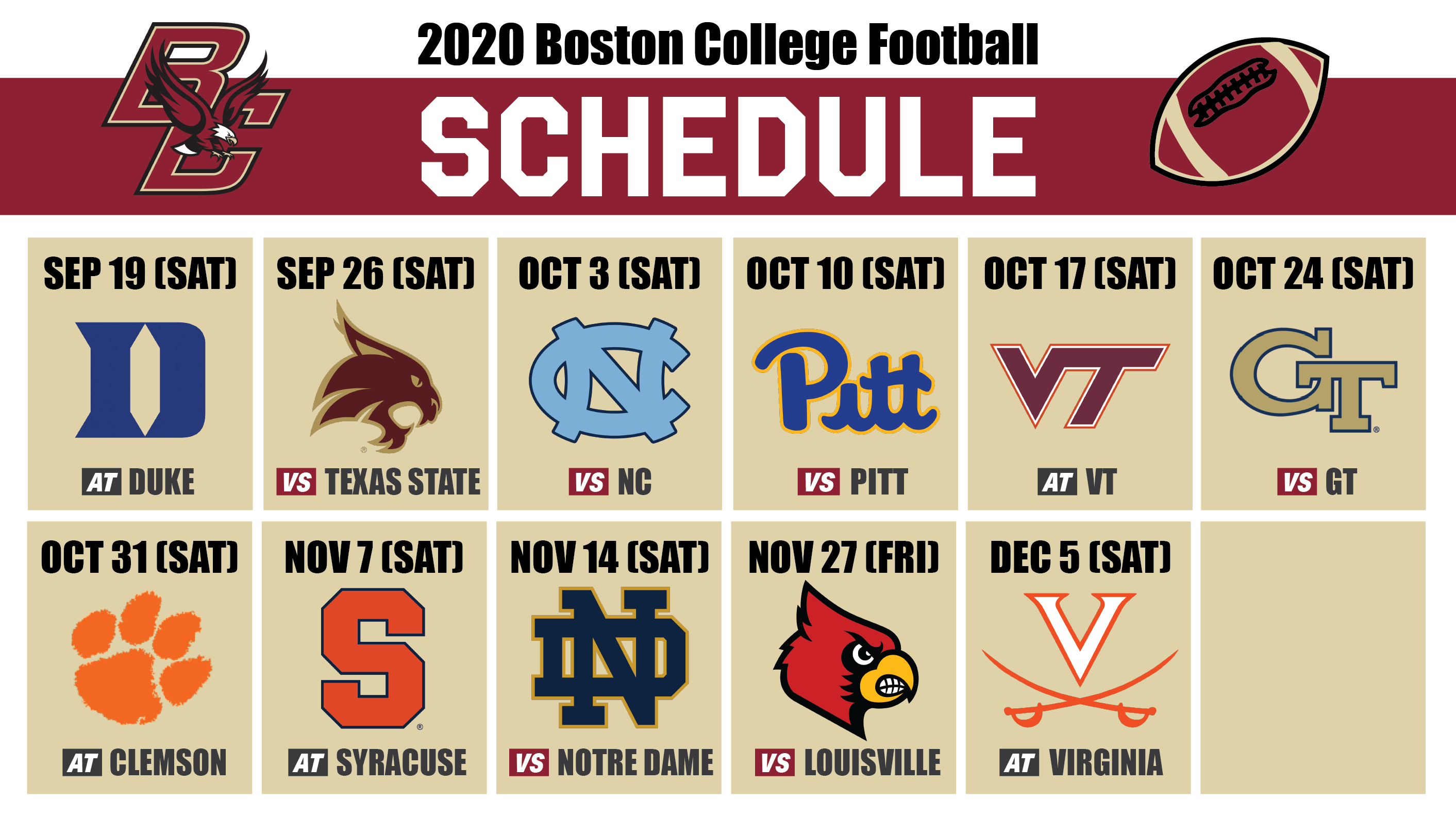 Bc Football 2020 Schedule Breakdown The Heights