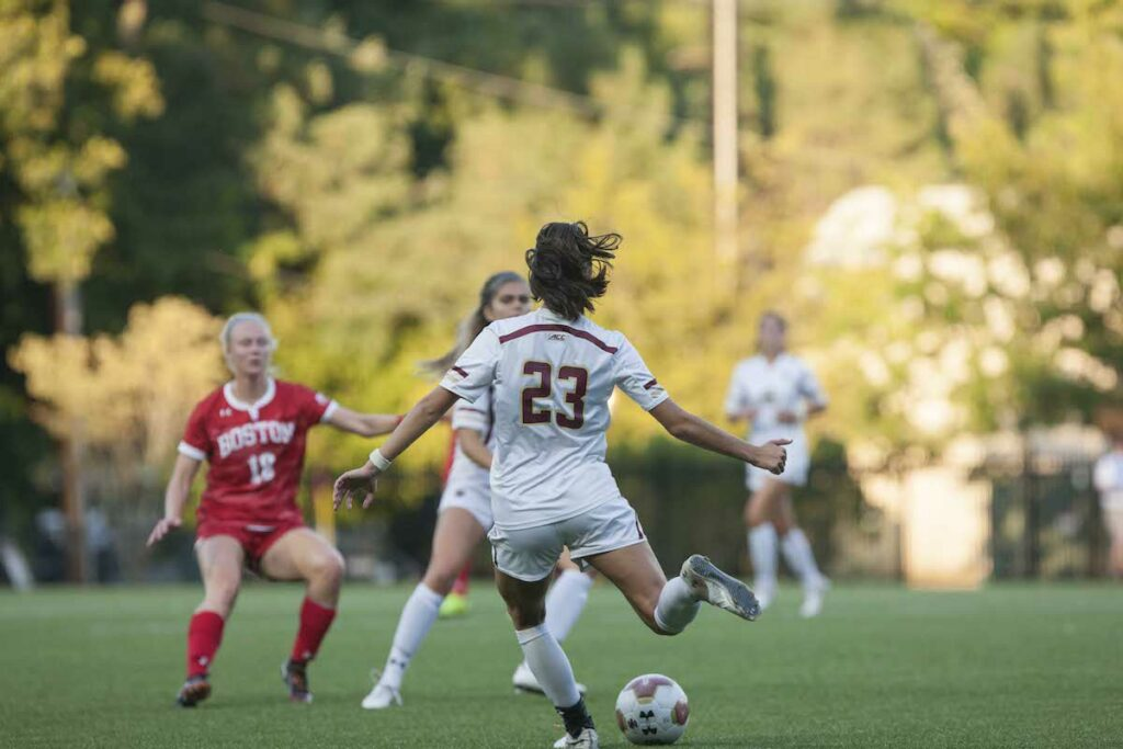 Irish Play Lockdown Defense, Shut Out BC 2-0 in Season Opener