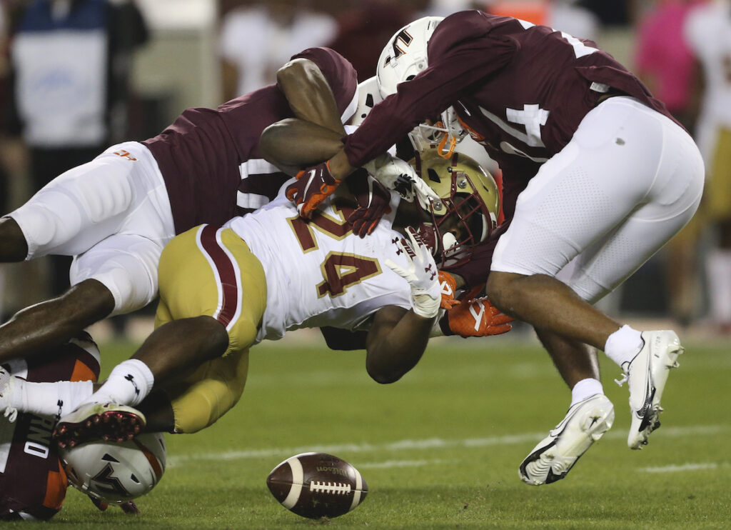Eagles Lose Five Turnovers, Hand VT Runaway Victory
