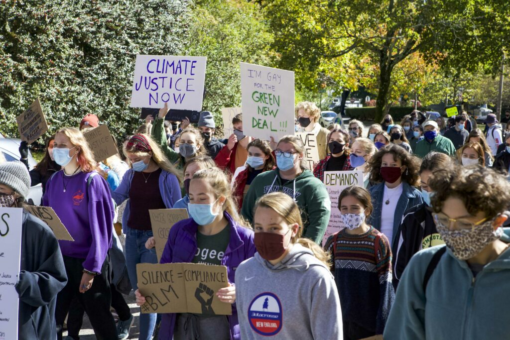 Newton Students Hold March for Climate and Racial Justice