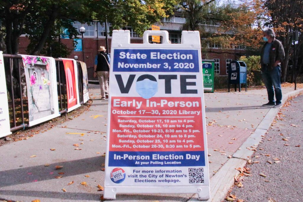Early In-Person Voting Held at Newton Free Library