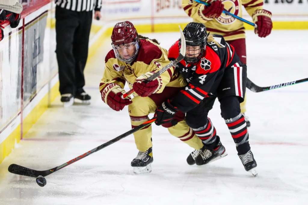 Three Late Northeastern Goals Spoil BC's Upset Hopes
