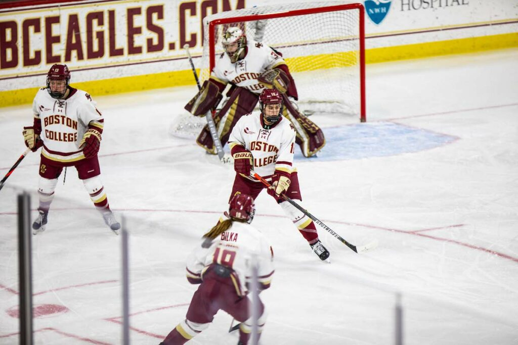 Eagles Fend Off Late Surge, Beat Merrimack 5-3