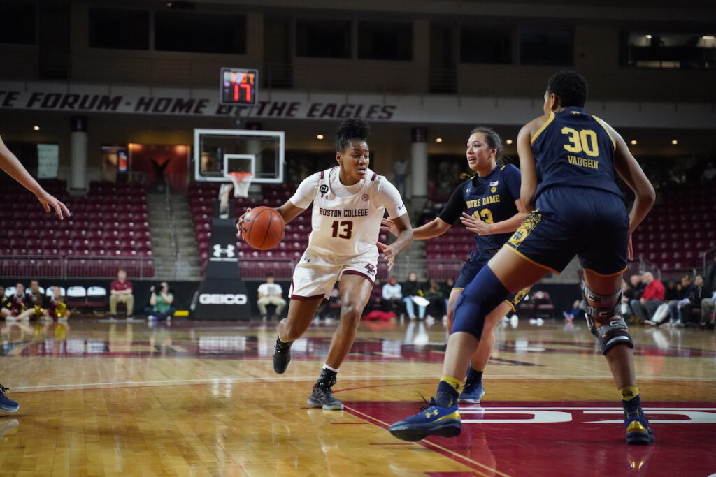 Eagles Fall to Notre Dame Despite Strong 3-Point Attack