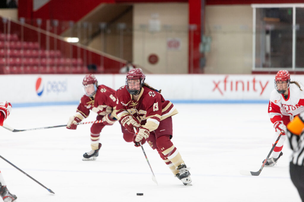 Late Surge Pushes BC to Victory, Eagles Split Series With BU