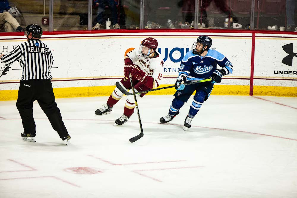 Notebook: Eagles' Persistent Offense Too Much For Maine