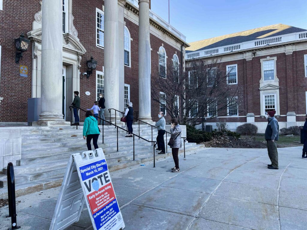 Newton Voters Express Concerns With Zoning, Policing at Early Voting