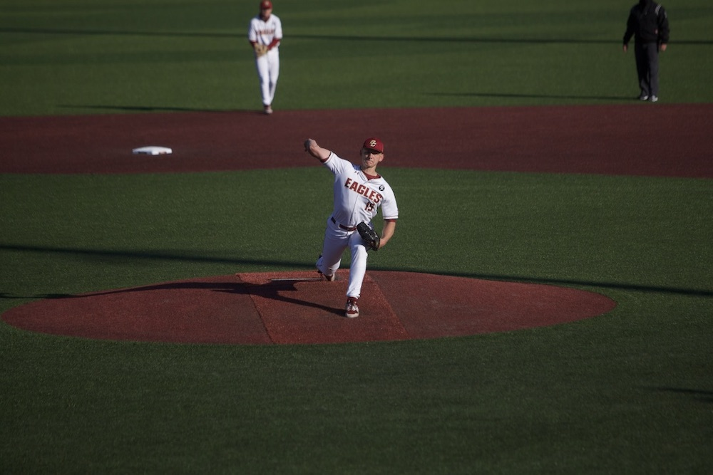 Sheehan Shines, Eagles Blank Irish In Series Opener