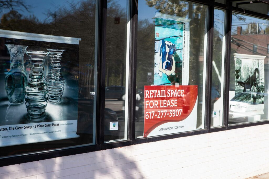 Newton Community Pride Fills Vacant Storefronts with Artwork