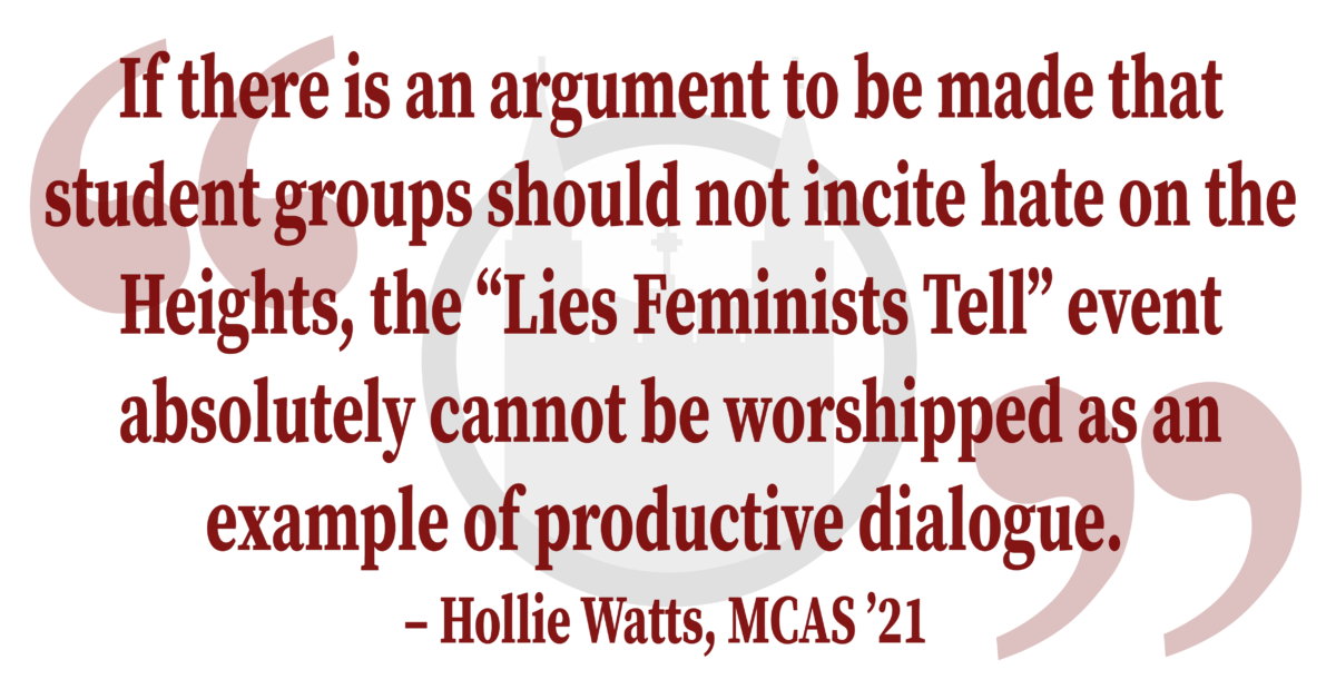 """Watts In Response To: """"To Promote Dialogue, Student Organizations Should Not Invite Prejudiced Speakers"""""""
