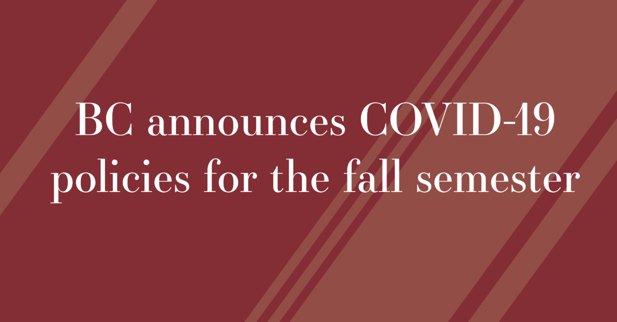 BC To Enforce Residence Hall Capacity Limits, Continue Surveillance Testing in the Fall