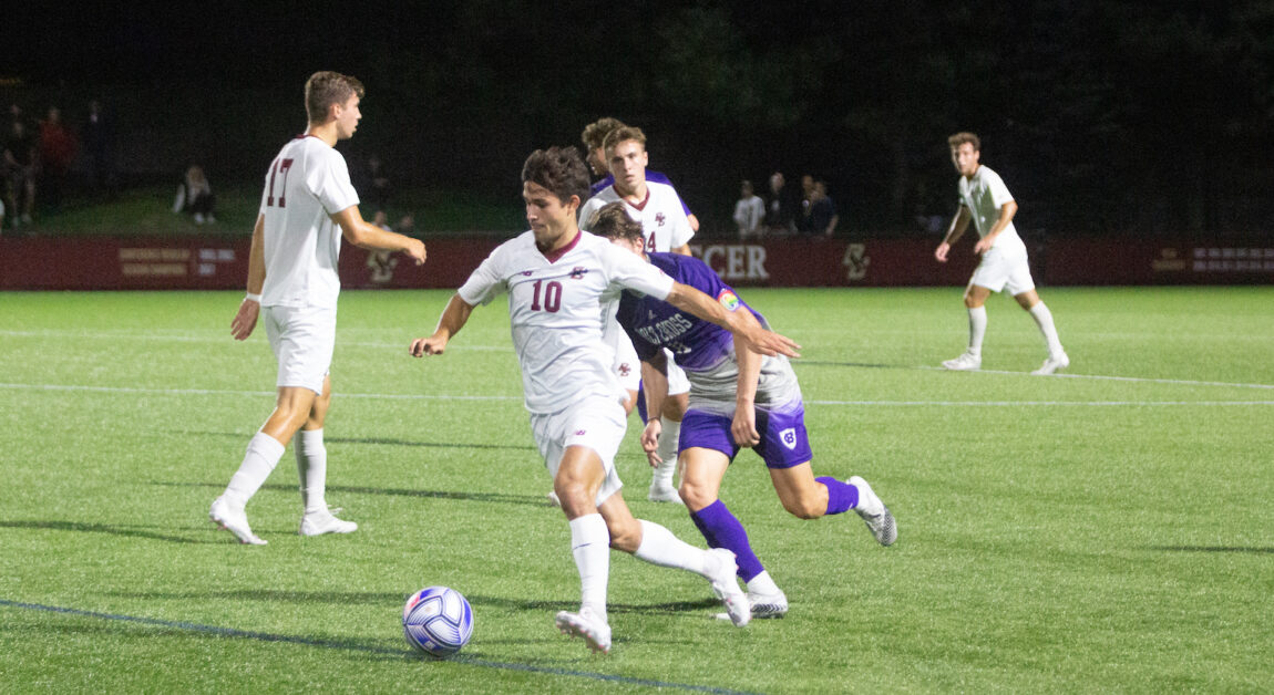 Suski's Penalty Shot Lifts Eagles Over Holy Cross