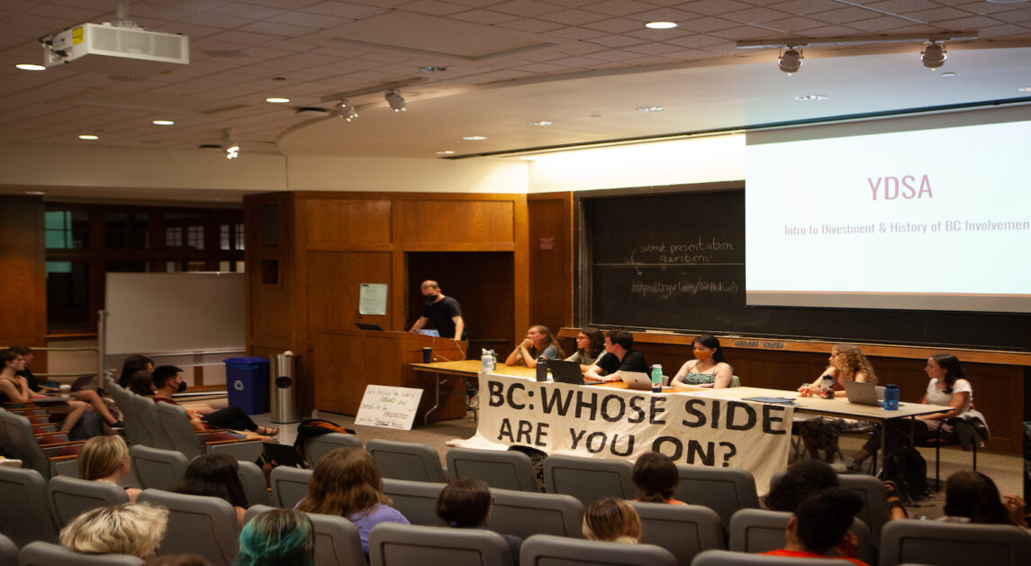 Student Groups Host Town Hall, Urge BC to Divest