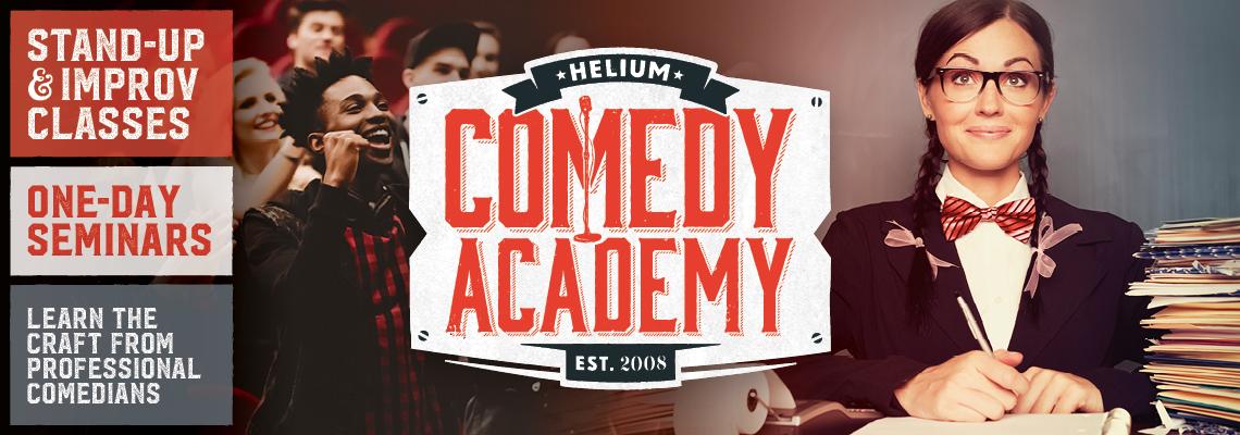 Helium's Comedy Academy. Est. 2008. Stand Up & Improv Classes