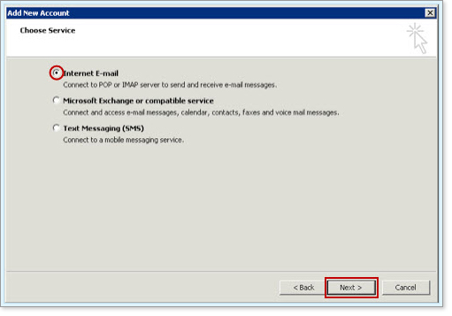 Set up Business Mail in Microsoft Outlook 2010 and 2013