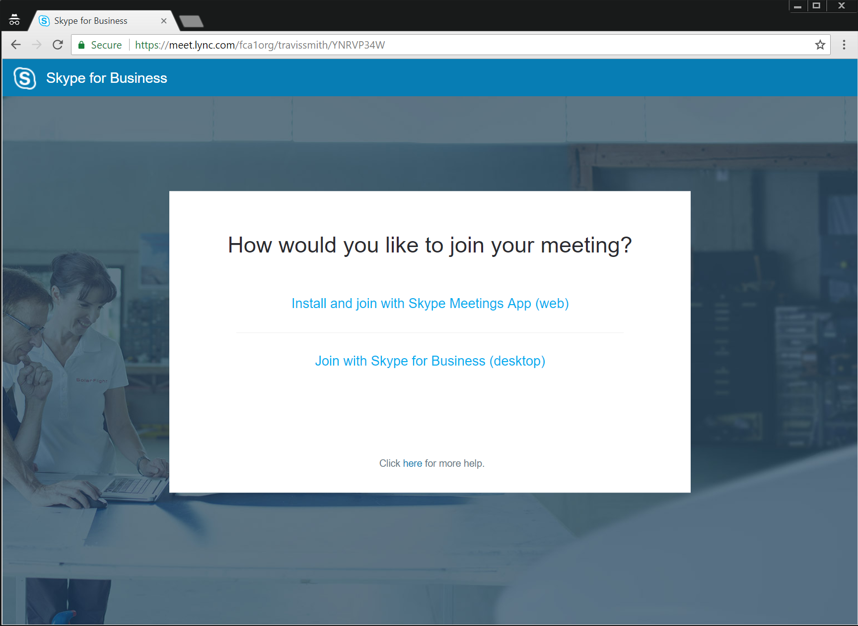 Joining a Skype for Business Online Call – Fellowship of