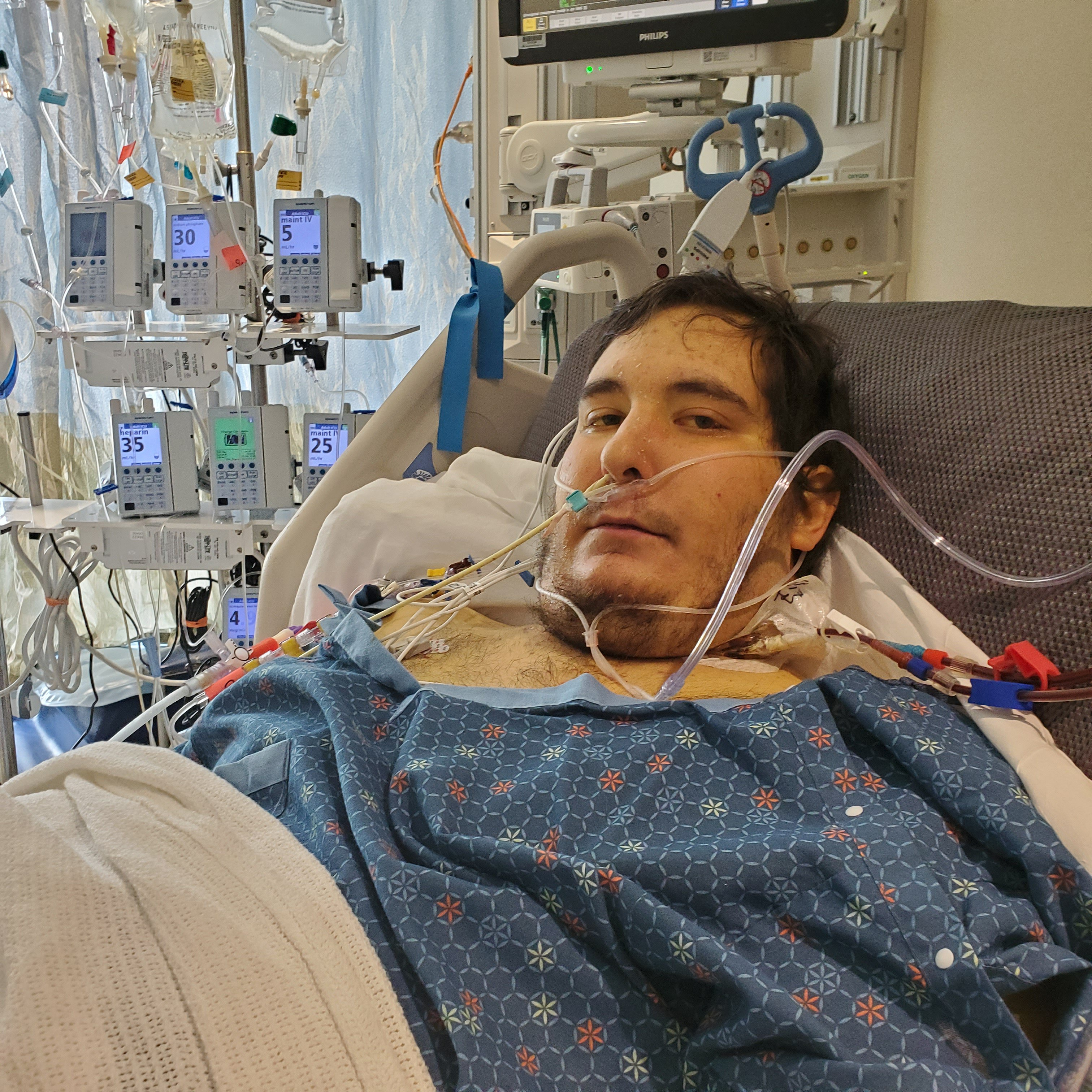 DJ before transplant