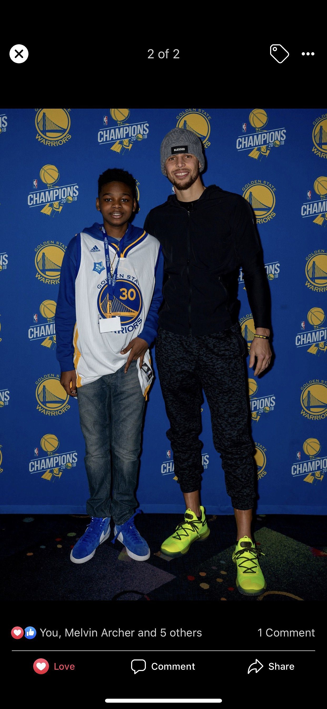 Jaylin Meets Stephen Curry
