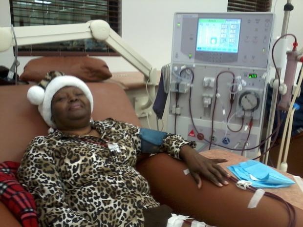 Frances at treatment