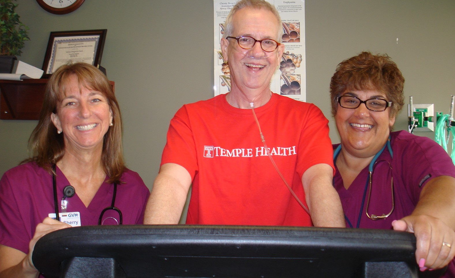 With Kim and Sherry at my Pulmonary Rehab center