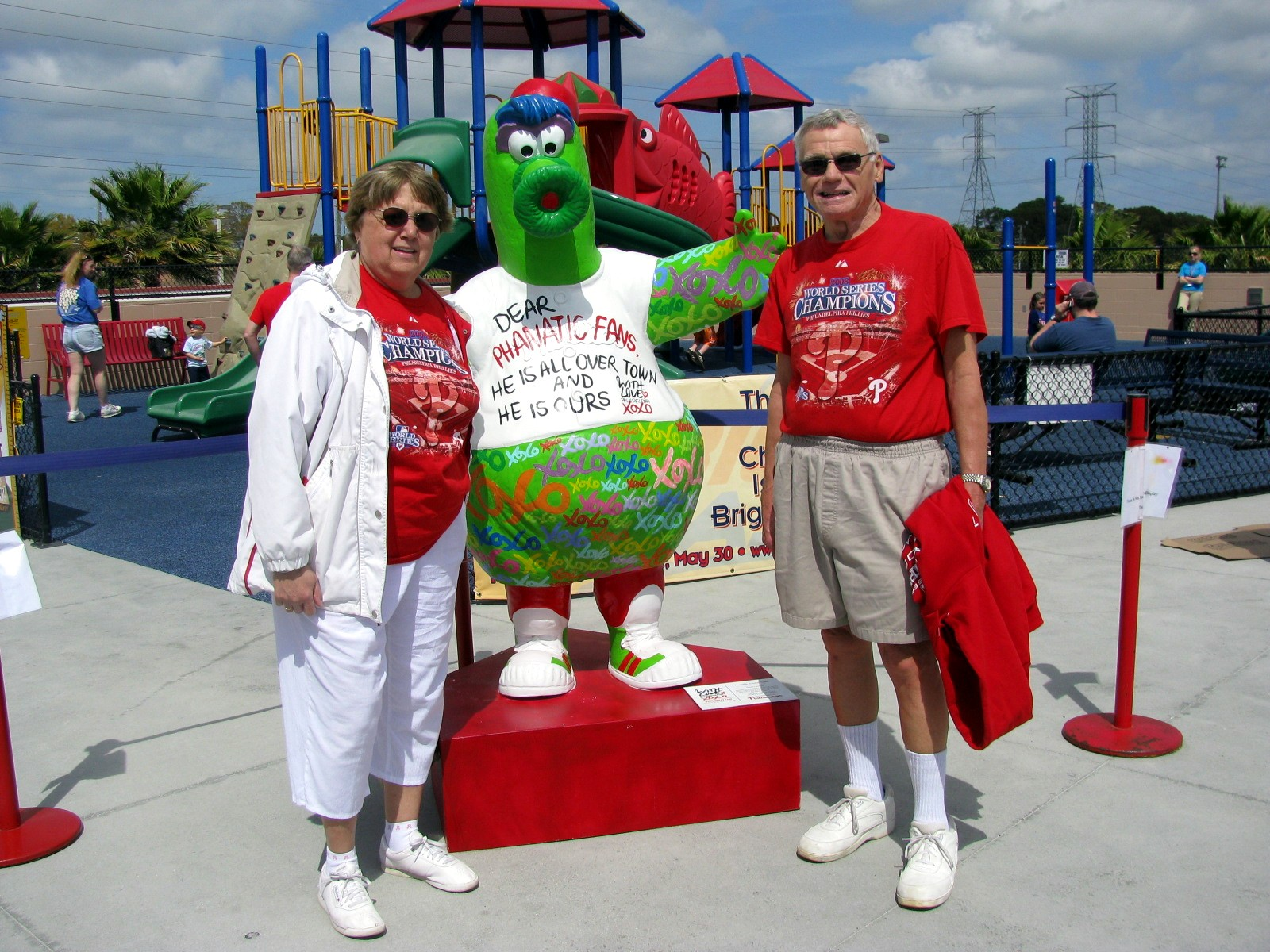 With the Philly Phanatic
