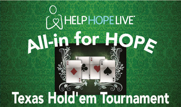 All-in for HOPE Texas Hold'em Poker Tournament