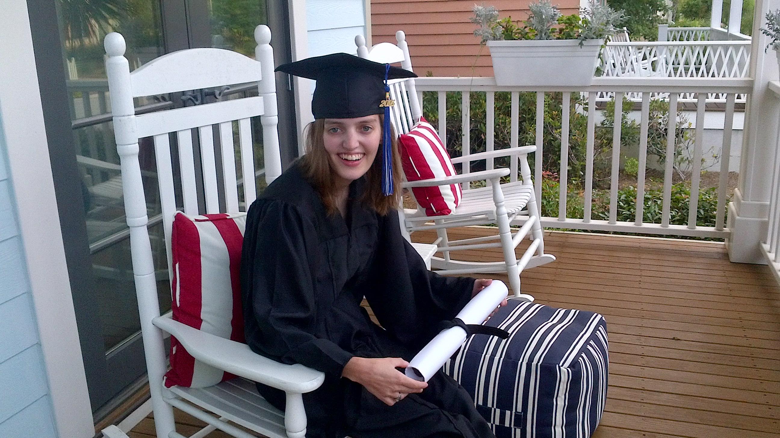 Emma's 2015 graduation