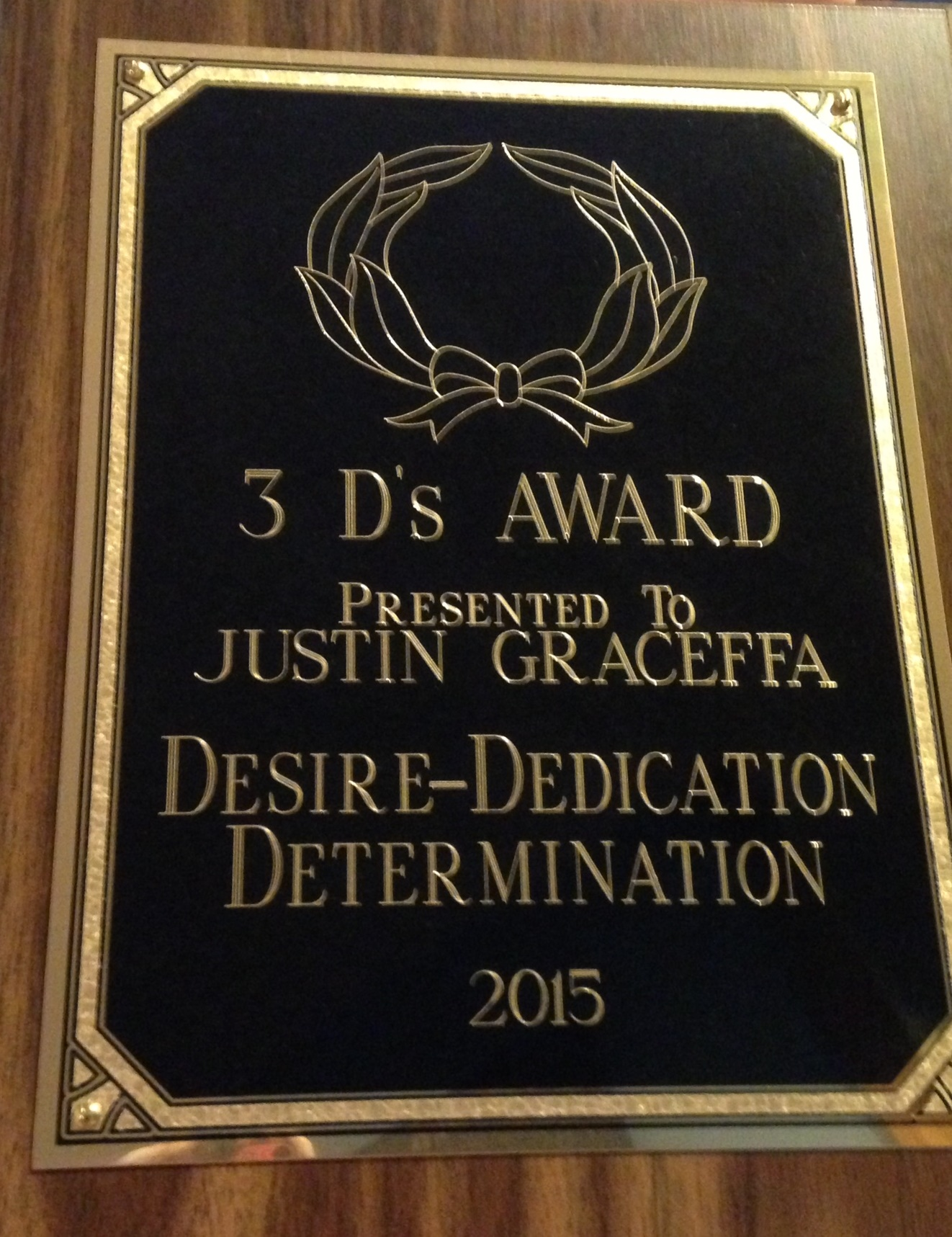 Justin's Award