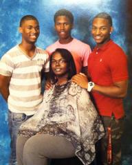 Latosha with her sons