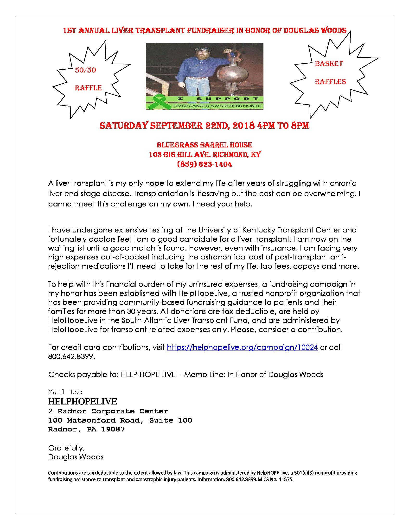 1ST Annual Liver Transplant Fundraiser