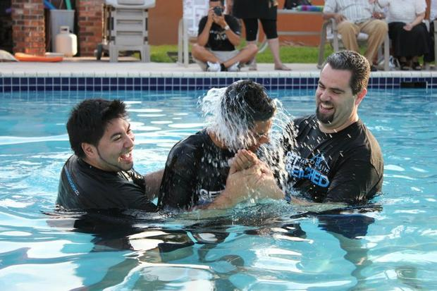 Andrew's Water Baptism