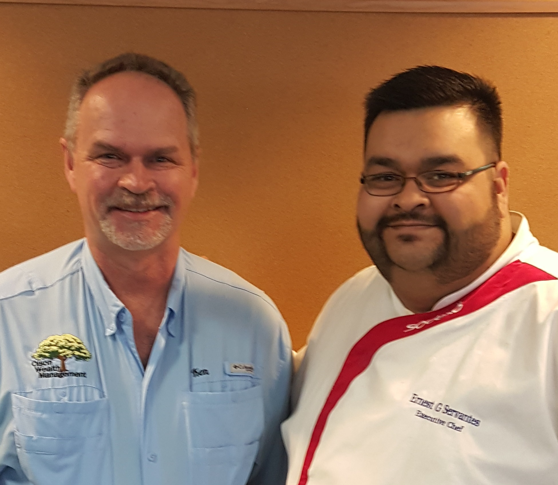 Ken with Chef Ernest Servantes