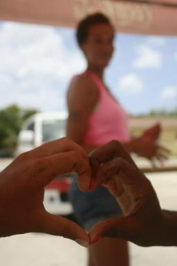 Amy Giving Her Heart in Aruba, Summer 2012