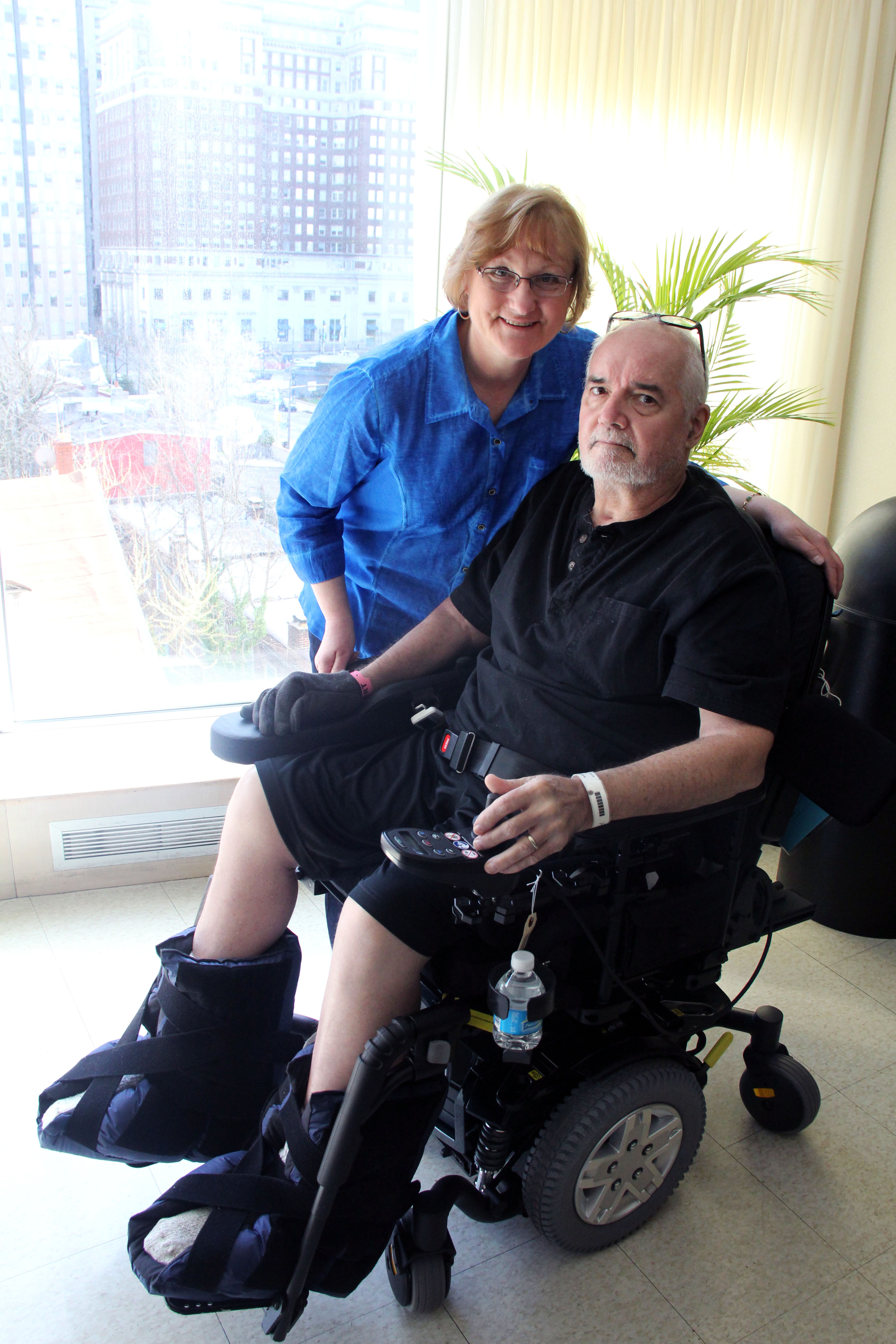 Tom at the Inpatient Rehab Center