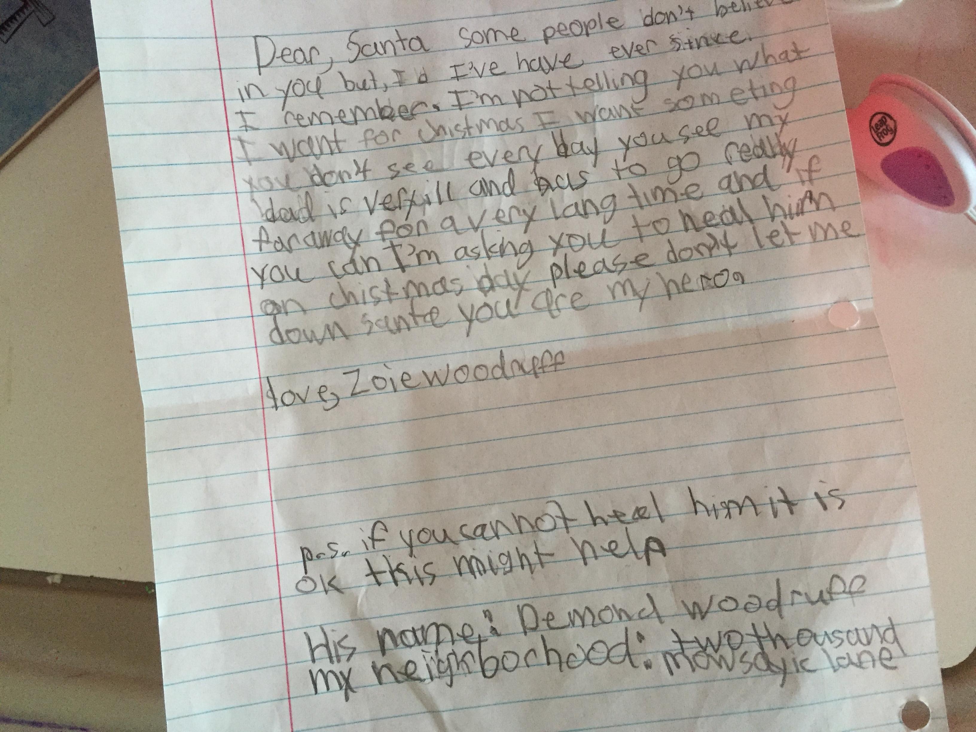 Dear, Santa Letter