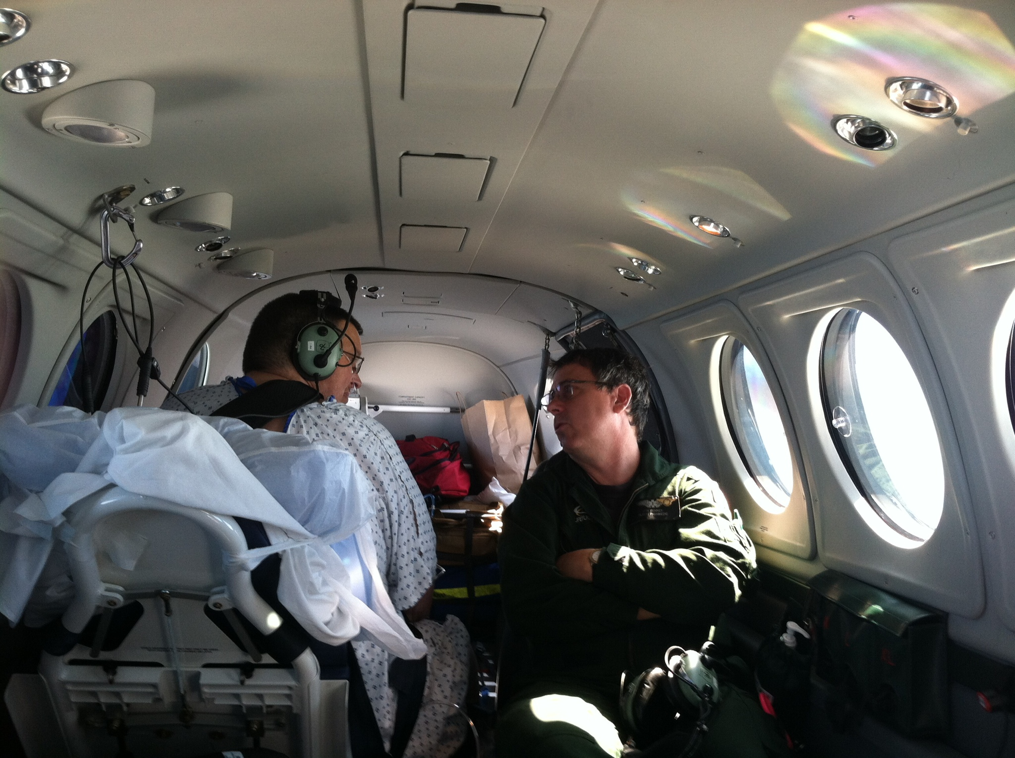 Cliff's LifeFlight trip from Maine to to Pennsylvania
