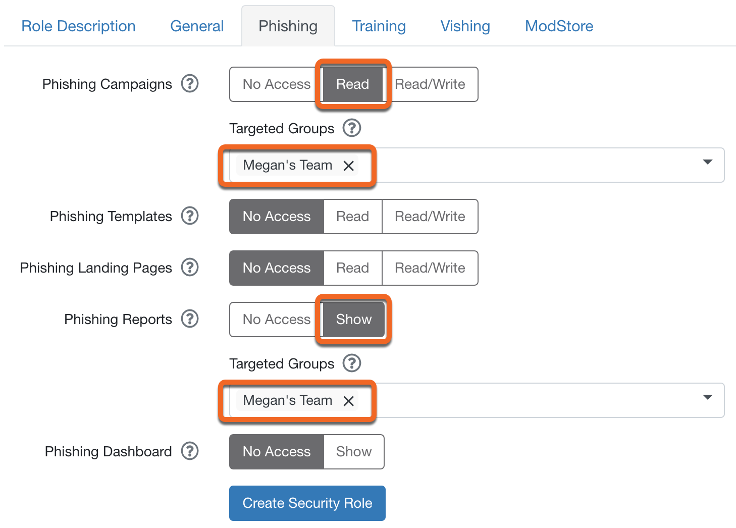 how to use security roles knowledge base