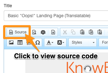 Source button