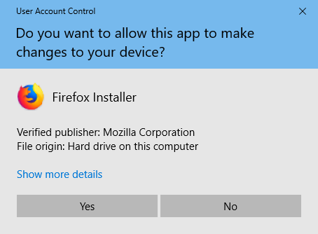 Firefox-Installer-win10-UAC