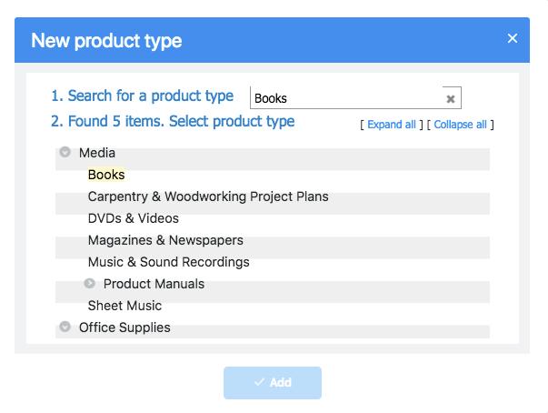 Busque un tipo de producto