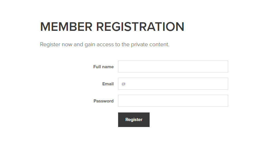 Member registration