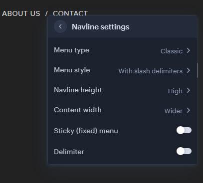 Navline settings