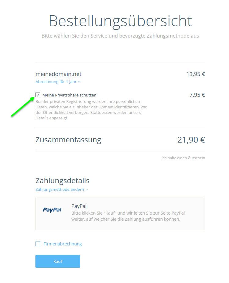 Domain-Registrierung