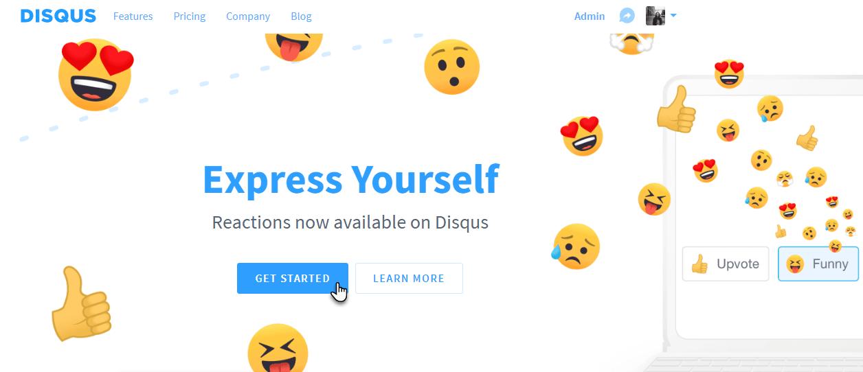 Klikněte na Get started