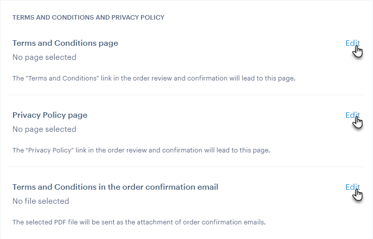 Terms and Conditions and Privacy Policy