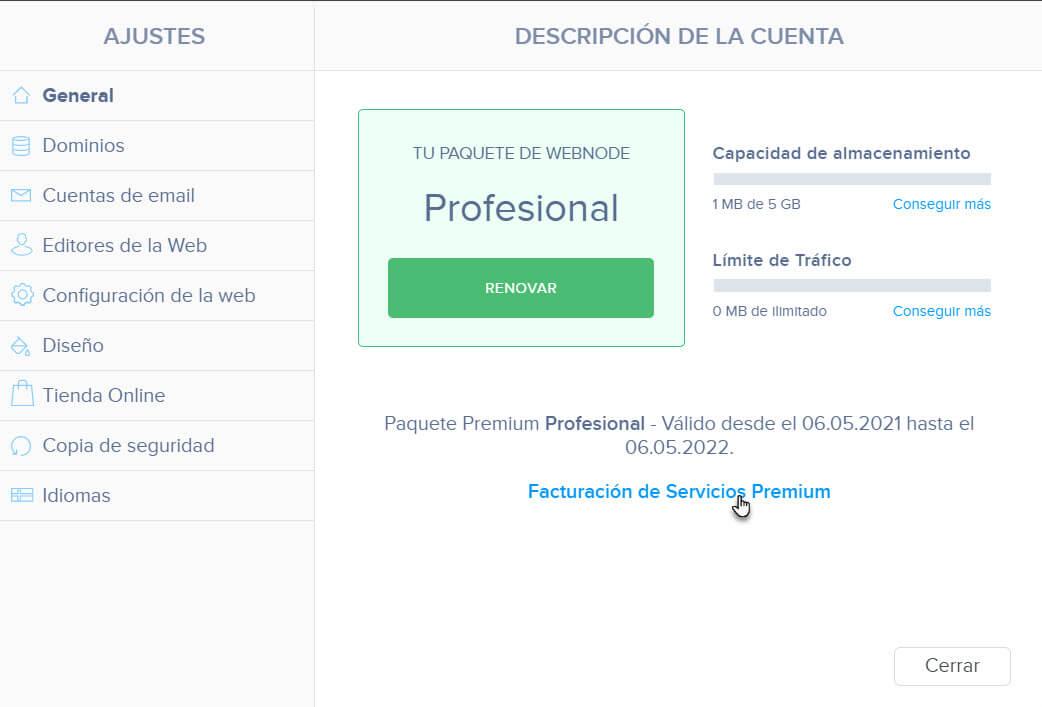 General Facturación Servicios Premium