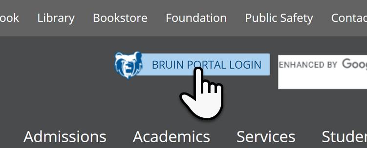 Bruin Portal Login Button image