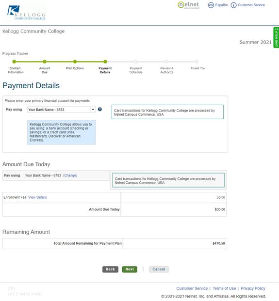 Payment details image