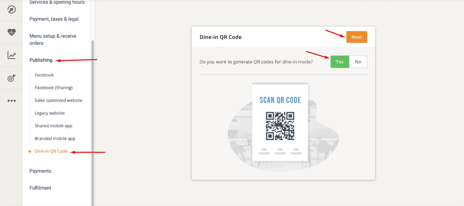 qr code menu app for restaurants