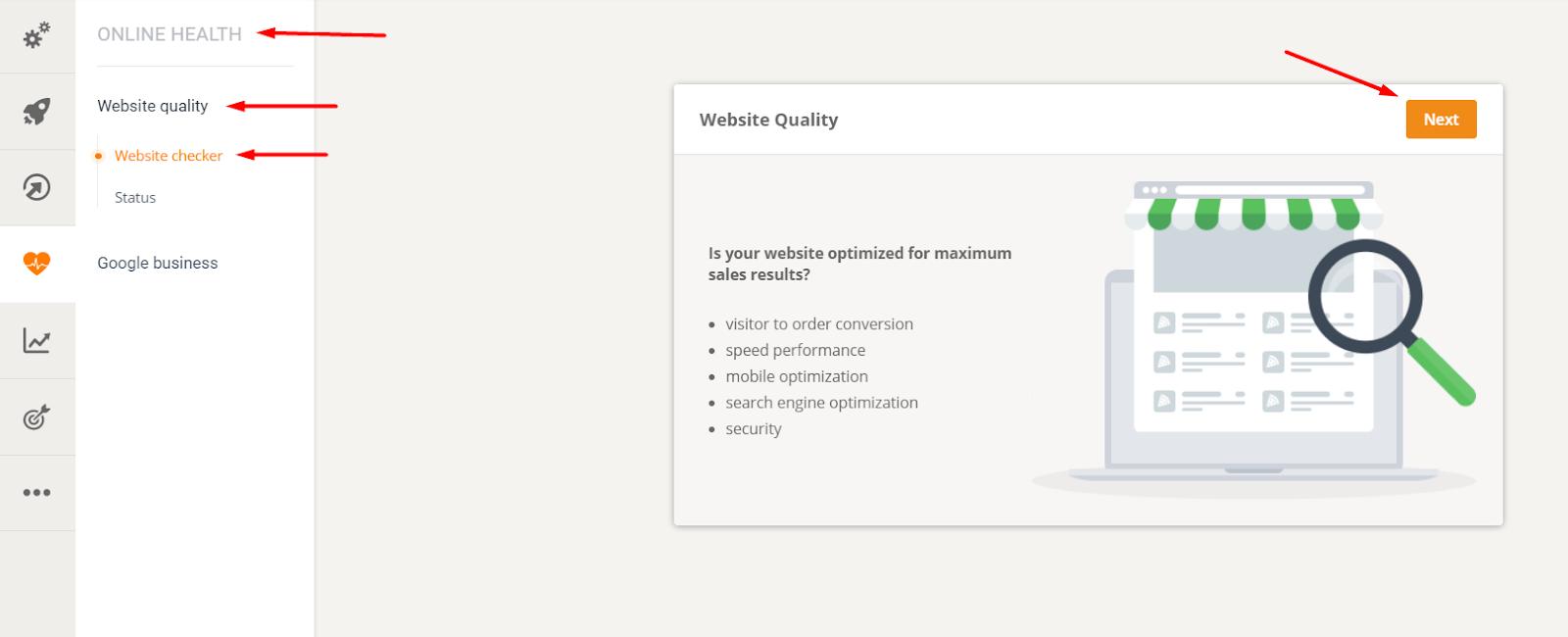 restaurant key success factors - website quality